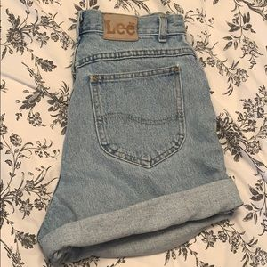 Vintage Lee High Waist Mom Shorts
